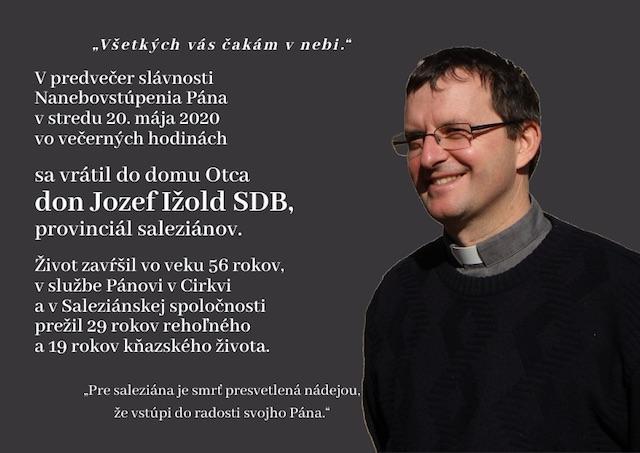 Provinciálka saleziánok: Don Jozef Ižold bude chýbať
