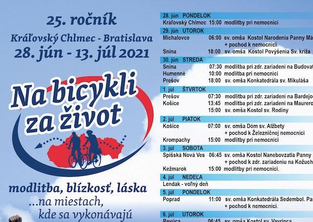 Cyklisti prejdú z východu Slovenska až do Bratislavy