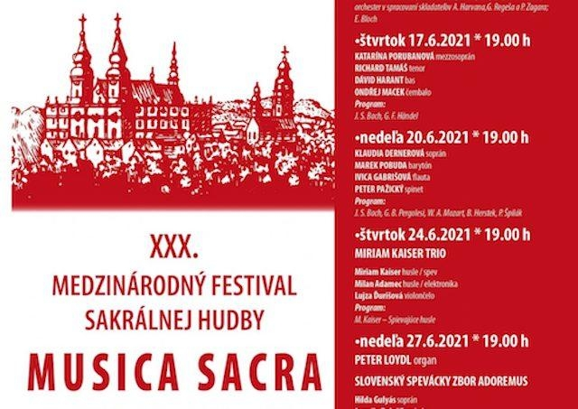 V Nitre začal 30. ročník medzinárodného festivalu sakrálnej hudby Musica Sacra 2021