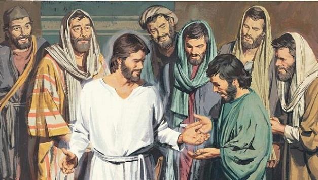 Zmŕtvychvstalý sa zjavuje svojim učeníkom