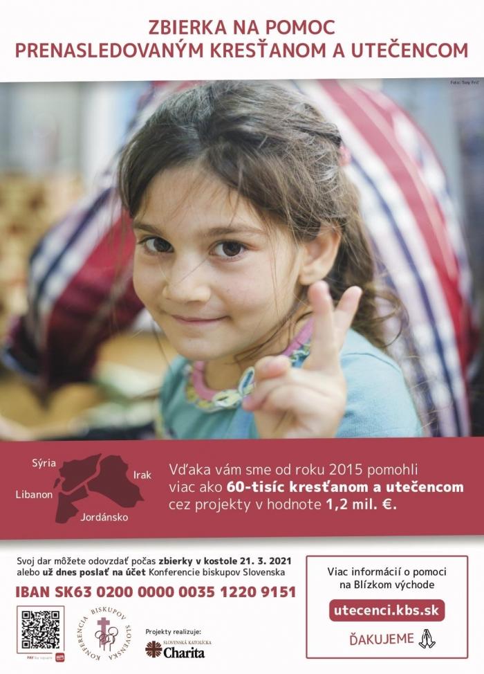 KBS vyhlásila celoslovenskú zbierku na pomoc ľuďom v núdzi v regióne Blízkeho východu