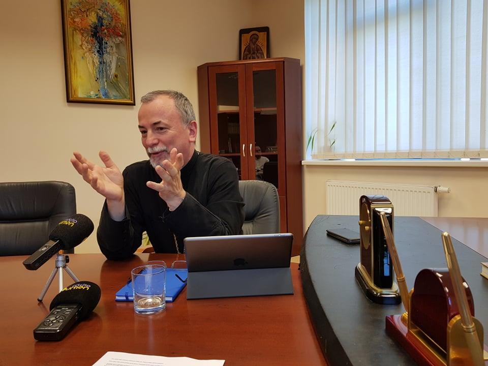 Arcibiskup Cyril Vasiľ nás privítal v priestoroch eparchiálneho úradu v Košiciach