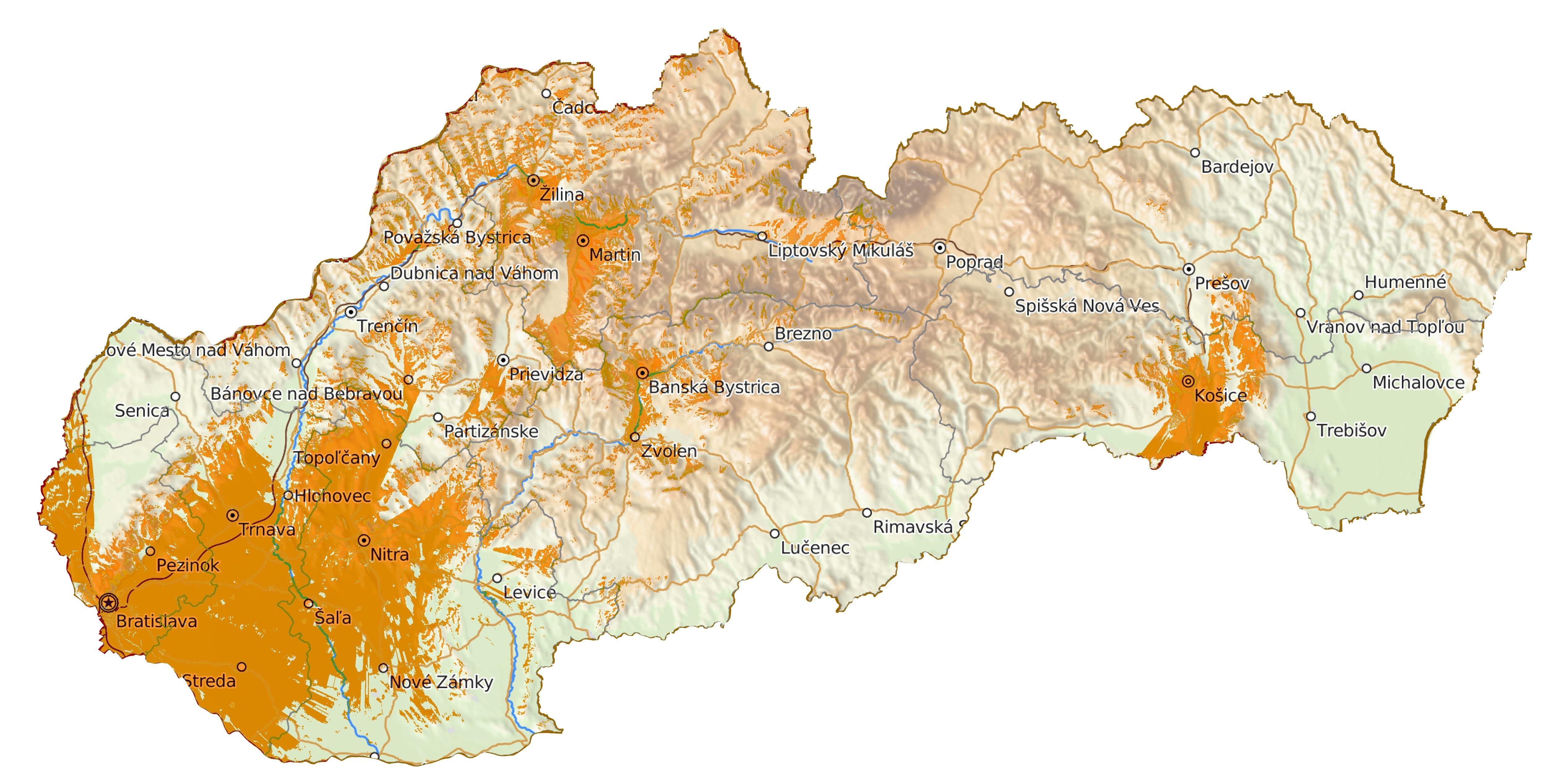 Mapa pokrytia DAB