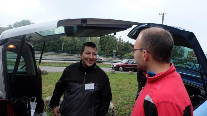 Moderátori novej relácie zľava Andrej Baldovský a Ivo Novák na Lumentúre na východnom Slovensku.